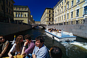 Sightseeing tour, Canal round trip St. Petersburg, Russia