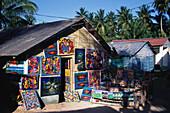 Naive Malerei, Haus, Dominikanische Republik Karibik