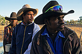 Aboriginal stockmen, Gibb River Station, Kimberle, Australien, West Australien, WA, Outback, North-West, Kimberley, portrait of Aboriginal stockmen on Gibb River Station