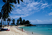 Bacardi Beach, Cayo Levantado, Dominikanische Republik Karibik, Amerika
