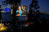 Sydney Harbour, outdoor cinema, Freilicht-Kino am, Australien, NSW, Sydney, outdoor film on Harbour