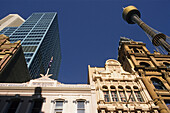 Sydney, city centre, highrise with AMP Tower, Skyline, old and new architecture