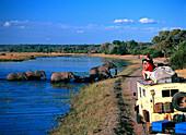 Elephants crossing the Chobe River, Safari, Chobe National Park, Botswana