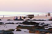 People watching sunset, sunset, Cable Beach, Broome, Western Australia, Australia