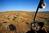aerial view out of helicopter window, outback Australia