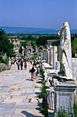 Road in the Ancient city of Ephesus, Turkish Aegean, Turkey
