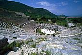 Amphitheatre in the Ancient city of Ephesus, Turkish Aegean, Turkey