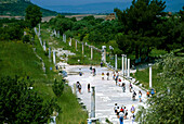 Marble road in the Ancient city of Ephesus, Turkish Aegean, Turkey