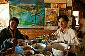 typical Burmese meal, Burma, Myanmar