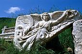 Victory goddess Nike, Ancient city of Ephesus, Turkish Aegean, Turkey