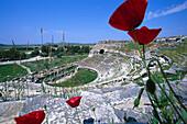 Roman theatre in the ancient city of Milet, Turkey