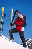 Ski-Tour, Aufziehen der Felle