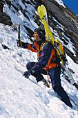 Ski-Tour, Aufstieg im extremen Gelaende
