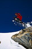 Schneeschuhwandern, Sprung