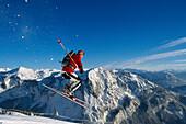 Jump, Skiing, Skigebiet Altaussee Steiermark, Austria