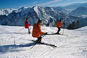 Skiing, Skiing Region Altaussee Steiermark, Austria