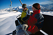 Chair Lift, Skiing Region Altaussee Steiermark, Austria