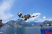 Skateboarding, Akrobatik, Gardasee, Trentiono Italien