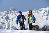 Sledding kids, Zell am See Salzburger Land, Austria