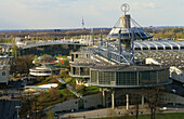 Congress center and view of whole area, CEBIT fair, Hanover, Lower Saxony, Germany