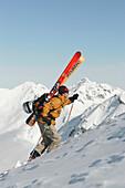 Skifahrer, Lech, Oesterreich Europa