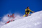 Carving skiers, Styria, Austria