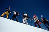 Snowboarding, Aufstieg mit, Schneeschuhen Dachstein, Oesterreich