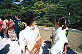 Frauen im Kimono, Imperial Palace Kyoto, Japan