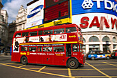 One red double-decker Bus, London, Great Britain