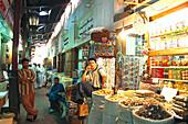 Spice Souk, men at a market stall, Dubai City, United Arab Emirates, Middle East, Asia