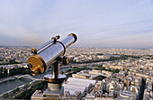 telescope, view from the Eiffel Tower, Paris, France