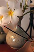 Incense Sticks, Frangipani, Monoi, Hotel Banyan Tree Spa Vabbinfaru, Maledive Island