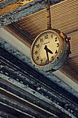 old broken rusty platform clock, Paris, France
