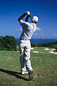 Golfer, White Witch Golf Course, Jamaica, Caribbean