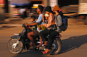 Moped as universal means of, transportation Cambodia, Asia