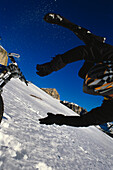 Wintermountainbike, Sellagruppe, Dolomiten Suedtirol, Italien