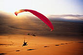 Paragliding in Walfish bay in Namibia, Africa