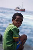 Little boy on the coast, Santo Antáo Cape Verde