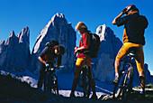 Mountainbiking, Drei Zinnen, Dolomiten South Tyrol, Italy