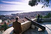 View from Castelo Sao Jorge, Alfama Lisbon, Portugal