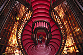 Woman in a book store, Editores Lello & Irunao, Porto Portugal