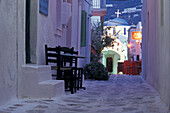 Alleyway in Parikia Kastro, Paros, Cyclades, South Aegean, Greece
