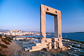 Gate of temple, Palatia, Chora, Naxos, Cyclades, South Aegean, Greece