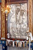 Silver icon, Panagia Argokiliotissa, Naxos Cyclades, Greece