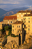 Mountain village Sartene, Corsica, France