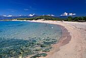 Sandy beach, Plage de Saleccia, Desert des Agriates, Corsica, France