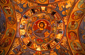 Christ Pantocrator fresco on vault of church, Galata, Cyprus