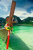 Boat on the beach, Ko Phi Phi Island, Andaman Sea, Thailand