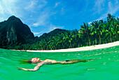 Woman in the water, Ko Phi Phi Island, Andaman Sea, Thailand