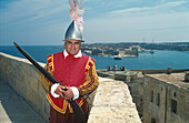 Guard, Fort, Oldtown, Valletta, Malta